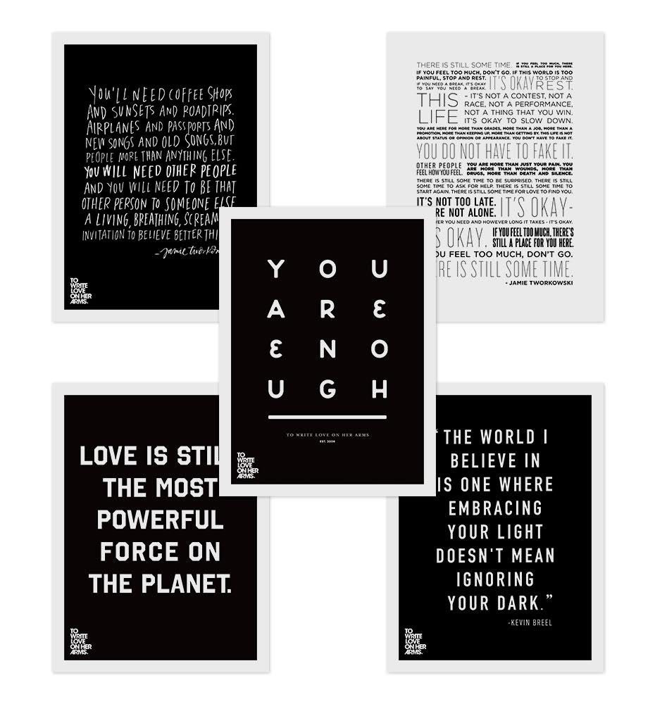 Three Prints Bundle To Write Love On Her Arms