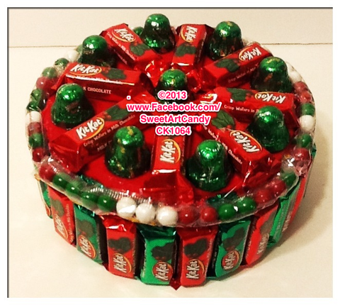 Red and Green Kit Kat Cake CK1064A