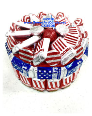 CK3506 RED WHITE BLUE KRACKEL CAKE