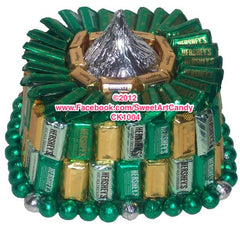 CK1004 EMERALD & GOLD CHOCOLATE CAKE