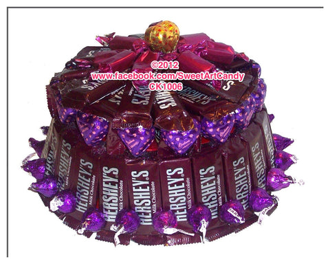 CK1006 HERSHEY'S PURPLE HEART CAKE