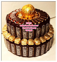CK1064 CHOCOLATE & GOLD HERSHEY'S CAKE