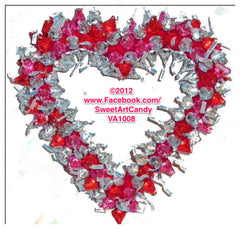 VA1008 RED PINK SILVER KISSES HEART