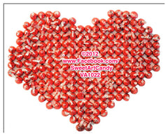 VA1022 KISSES HEART CANVAS
