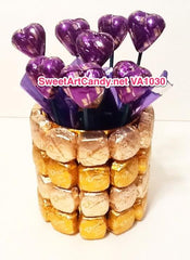 VA1030 GOLDEN DOVE AND PURPLE HEARTS