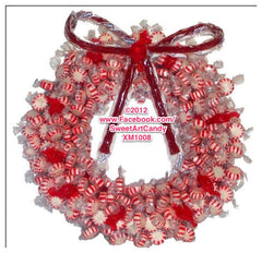 XM1008 PEPPERMINT WREATH
