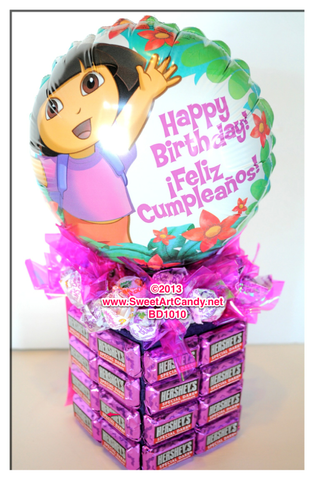 BD1010 DORA THE EXPLORER CHOCOLATE HAPPY BIRTHDAY
