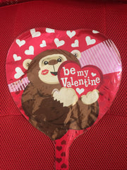 BE MY VALENTINE MONKEY ON RED HEART BALLOON