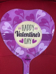 HAPPY VALENTINE'S DAY PURPLE HEARTS BALLOON