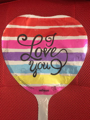 MULTI-COLOR I LOVE YOU BALLOON