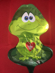 GREEN FROGGY I LOVE YOU BALLOON