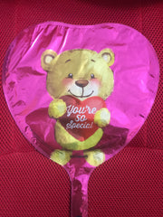 BEAR YOU'RE SO SPECIAL ON PINK HEART BALLOON