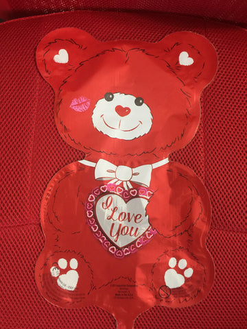 RED BEAR I LOVE YOU BALLOON