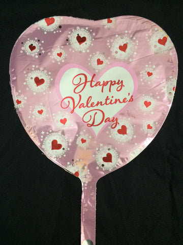PINK HAPPY VALENTINES DAY HEART BALLOON