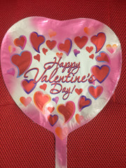 HAPPY VALENTINE'S DAY PINK WHITE HEARTS BALLOON