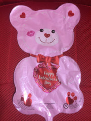 PINK BEAR HAPPY VALENTINES DAY BALLOON
