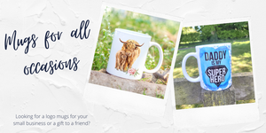 mugs for all occasions, gift ideas, coffee mug personalised gifts - sew Tilley