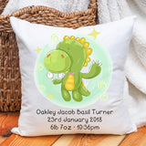 Baby birth announcement, new baby, cushion gift idea, New parent gift