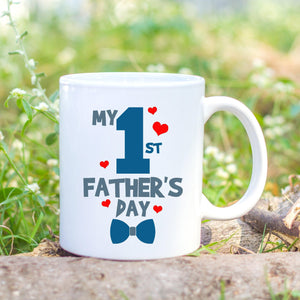 Personalised first fathers day mug - Sew Tilley
