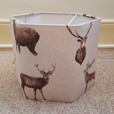 Stag Hexagon  Lampshade