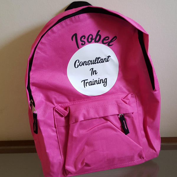Personalised back packs - Sew Tilley