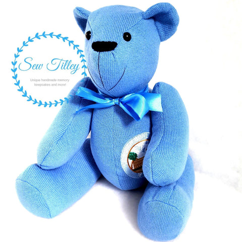 Jointed memory keepsake bear