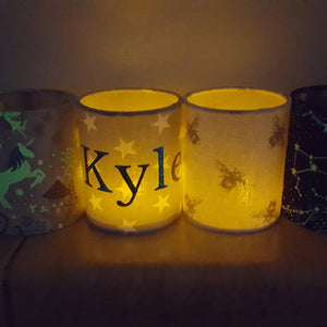 Personalised lampshades and lanterns - Sew Tilley