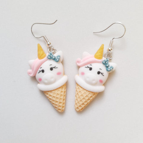 Unicorn Ice cream earrings - Sew Tilley