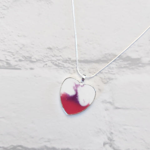 White heart pendant - Sew Tilley