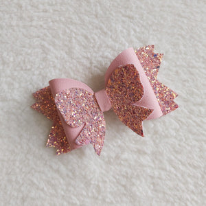 Pink bow hair bow - Sew Tilley