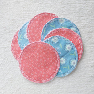 Reusable wipes 7 pack pink and blue - Sew Tilley