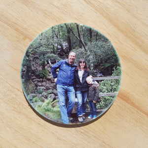 Photo keepsake ceramic coasters - Sew Tilley