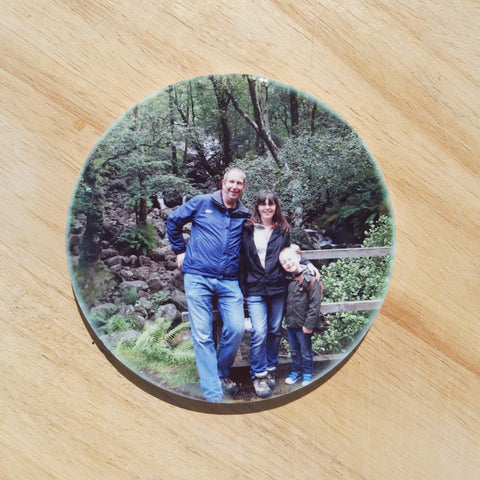 Photo ceramic coaster by Sew Tilley. The perfect photo gift to give.