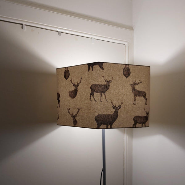 Stag 40cm hexagon lampshade. - Sew Tilley
