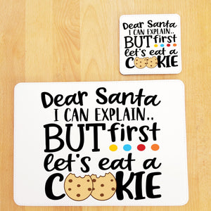 Dear Santa placemat and coaster