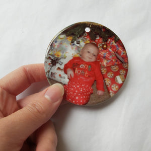 Photo christmas ornament - Sew Tilley
