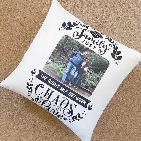 Chaos and love family cushion