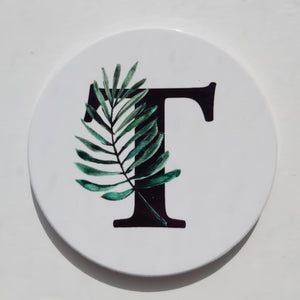 Tropical Botanical Letter coaster