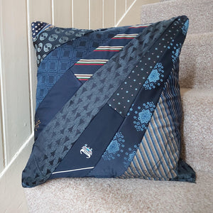 Tie keepsake memory cushion