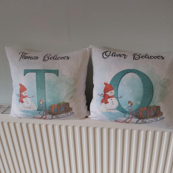 Thomas believes Christmas cushion - Sew Tilley