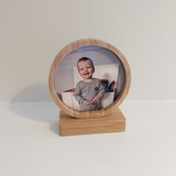 Photo frame - Bamboo circle - Sew Tilley