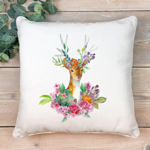 Deer floral cushion
