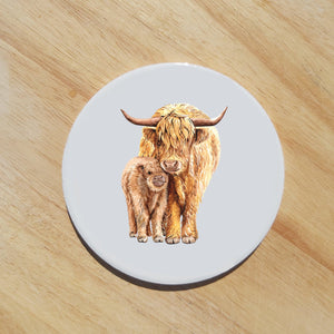 Highland cow coaster - Sew Tilley