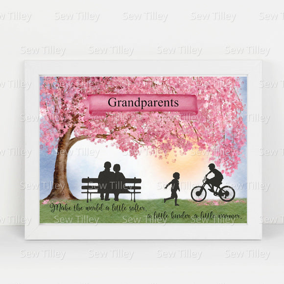 Personalised Grandparents prints - Sew Tilley