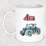 Tractor mug - red 6 options - Sew Tilley
