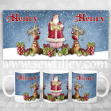 Blue Personalised Christmas Mug - Sew Tilley
