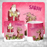 Blue Personalised Christmas placemat