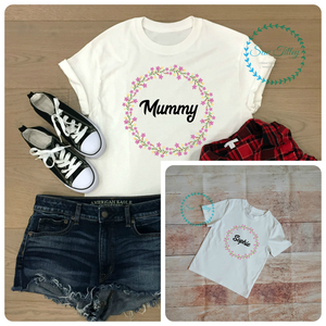 Mummy and me little Spring T-shirt - Sew Tilley