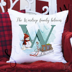 The family believes Christmas cushions