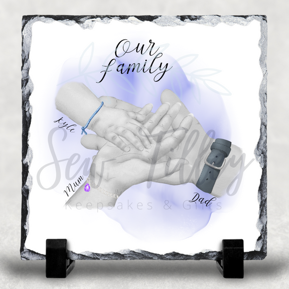 Our Family Hands Slate